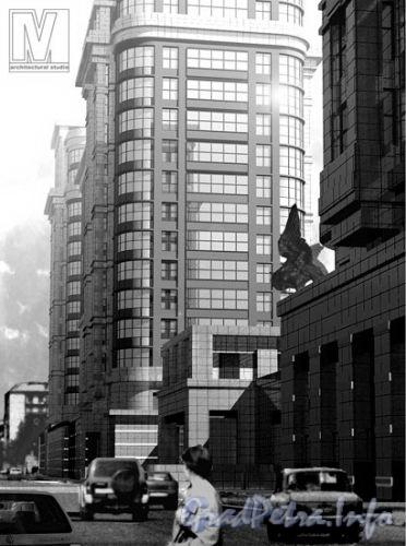 Московский проспект, дом 183-185. Жилой комплекс «Граф Орлов». Проект корпуса по Варшавской улице. Фото с сайта «Архитектурная студия M4».