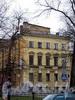 Большой пр. В.О., д. 1 (левый корпус) / ул. Репина, д. 21. Дом лютеранской церкви св. Екатерины. Общий вид здания. Фото май 2010 г.
