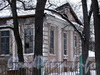 Аптекарский пр., д. 16. Дом физкультуры. Фрагмент фасада. Вид с улицы Академика Павлова. Фото январь 2006 г.