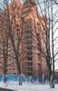 Институтский пр., дом 11. Строительство жилого комплекса «Кристалл». Фасад со стороны пр. Пархоменко. Фото январь 2012 г.