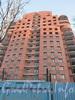 Институтский пр., дом 11. Строительство жилого комплекса «Кристалл». Фасад со стороны Институтского пр. Фото январь 2012 г.
