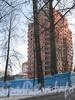 Институтский пр., дом 11. Строительство жилого комплекса «Кристалл». Фасад со стороны 2-го Муринского пр. Фото январь 2012 г.
