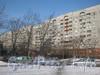 Ленинский пр., дом 95, корп. 1. Центральная часть дома со стороны двора. Фото февраль 2012 г.