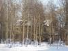 Сгоревший 2-этажный жилой дом на углу Сосновского пр. и Рябовского шоссе. Фото февраль 2012 г.