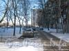 Пр. Ветеранов, дом 152, корп. 1. Проезд вдоль дома 152 корпус 1 по пр. Ветеранов в сторону дома 150. Фото февраль 2012 г. со стороны пр. Ветеранов.