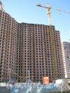 Пр. Просвещения, дом 43. Вид с ул. Руднева на правую часть здания. Фото 4 сентября 2012 г.