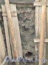 Люботинский проспект. Культурный слой на месте реконструкции стальной водопроводной магистрали. Фото 25 ноября 2012 г.