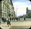 Невский пр., дом 30. Фасад со стороны Невского проспекта. Раскрашенная Фотография Брэнсона Деку. Фото 1931 год.