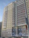 Ленинский пр., дом 55, корпус 1, литера А. Фрагмент здания со строны проезда параллельно нечётной стороне ул. Доблести. Фото 28 января 2013 г.