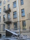 Лесной пр., дом 77. Фрагмент здания со стороны двора. Фото 5 февраля 2013 г.
