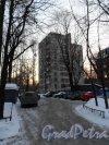 Институтский проспект, дом 16, вид с северной стороны. Фото февраль 2013 года. Пейзаж зимним вечером.