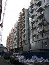 Лиговский проспект, дом 123. Очертания нового фасада здания со стороны Рязанского проспекты. Фото 18 марта 2013 г.