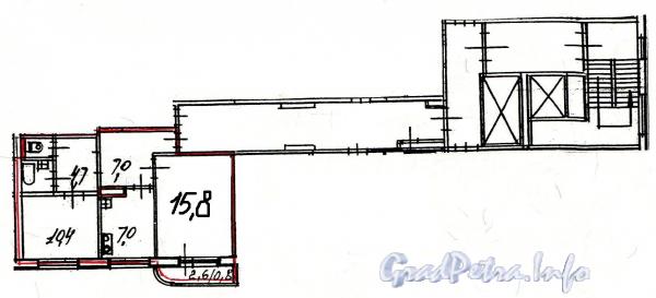 Гражданский пр. д.112. Планировка двухкомнатной квартиры.
