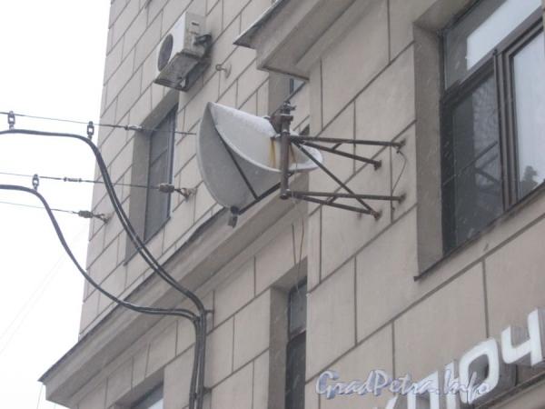 Московский пр., дом 171. Кто-то завернул антенну в узел. Фото февраль 2012 г.