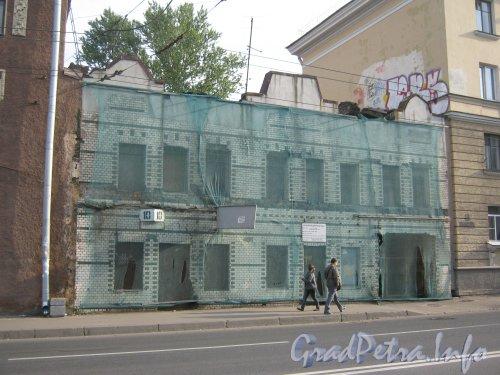 Волковский пр., дом 10, литера А. Общий вид с нечётной стороны Волковского пр. Фото 18 сентября 2012 г.