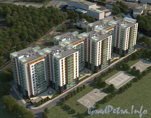 наб. реки Смоленки, дом 35. Проект жилого комплекса «Айно».