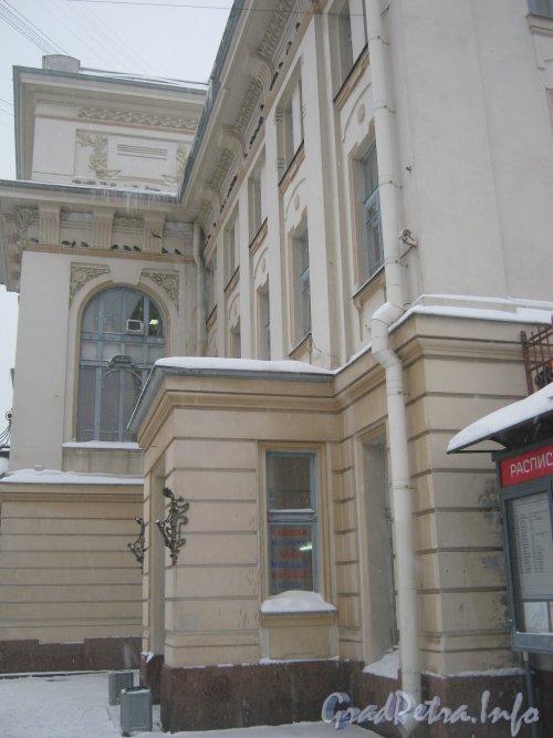 Загородный пр., дом 52. Фрагмент здания Витебского вокзала со стороны проезда параллельно Введенскому каналу.  Фото 11 декабря 2012 г.