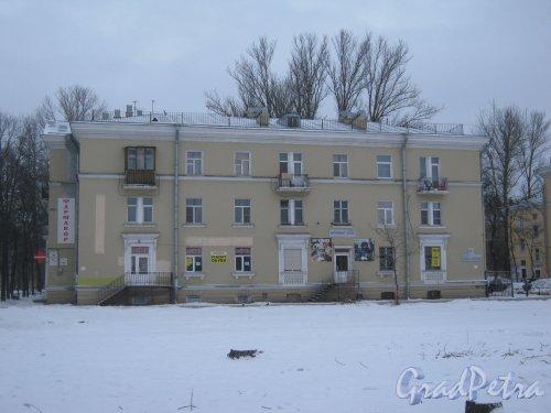 Пр. Народного Ополчения, дом 211. Общий вид фасада. Фото 6 января 2013 г.