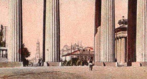 Здания на участке.  Почтовая открытка начала XX века.