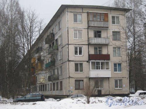 Гражданский пр., дом 113, корпус 2. Общий вид здания со стороны дома 8 корпус 4 по ул. Черкасова. Фото 30 января 2013 г.