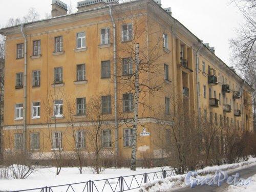 Тихорецкий пр., дом 7, корпус 6. Общий вид со стороны дома 5 корпус 4. Фото 8 февраля 2013 г.