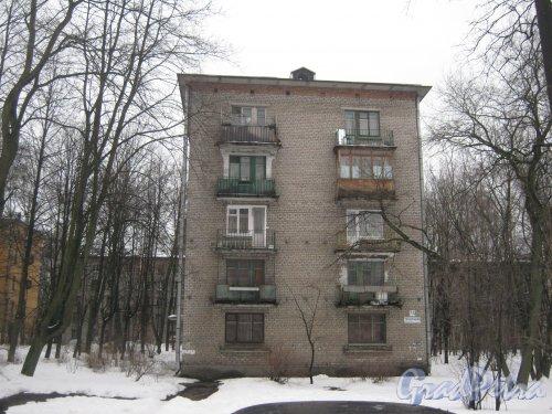 Тихорецкий пр., дом 7, корпус 4. Общий вид со стороны дома 5 корпус 2. Фото 8 февраля 2013 г.