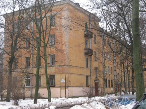 Тихорецкий пр., дом 7, корпус 3. Общий вид со стороны дома 5 корпус 2. Фото 8 февраля 2013 г.