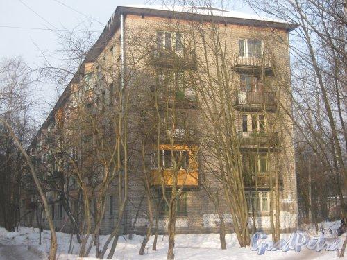 Тихорецкий пр., дом 9, корпус 4. Фрагмент здания со стороны дома 9 корпус 9. Фото 17 февраля 2013 г.