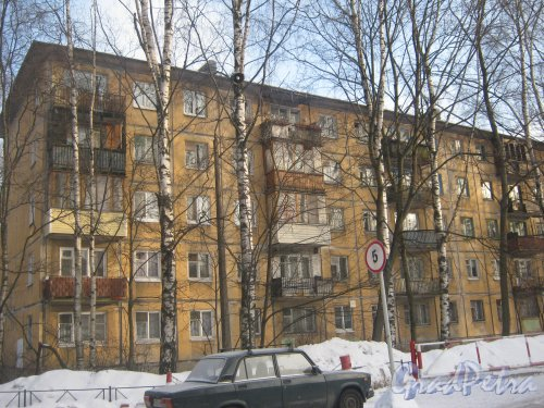 Тихорецкий пр., дом 9, корпус 9. Фрагмент фасада здания. Фото 17 февраля 2013 г.