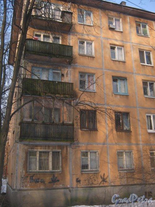 Тихорецкий пр., дом 9, корпус 8. Фрагмент здания со стороны дома 9 корпус 10. Фото 17 февраля 2013 г.