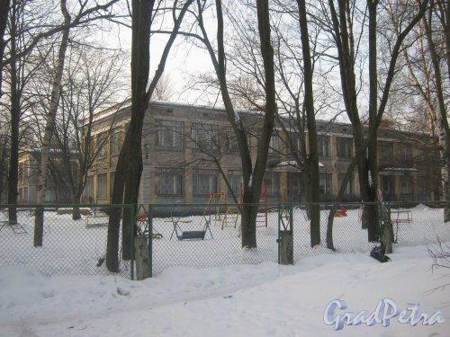 Тихорецкий пр., дом 9, корпус 6. Общий вид здания детского сада. Фото 17 февраля 2013 г.