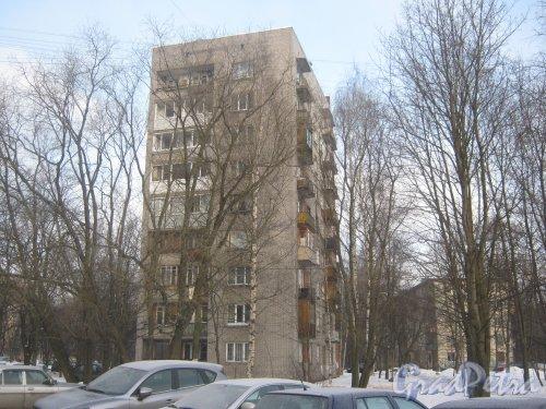 Тихорецкий пр., дом 11, корпус 3. Общий вид со стороны дома 11 корпус 4. Фото 17 февраля 2013 г.