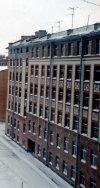 Большой Сампсониевский пр., дом 4. Общий вид жилого дома со стороны двора. Фото апрель 1976 г.
