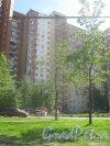 Ленинский пр., дом 79, корпус 1. Фрагмент здания со стороны Ленинского пр., подготовленного к покраске. Фото 30 мая 2013 г.