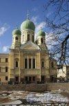 Римского-Корсакова пр., д. 24. Церковь св. Исидора Юрьевского. Общий вид. Фото апрель 2013 г.