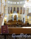 Лермонтовский пр., д. 2. Большая хоральная синагога. Большой молельный зал. Общий вид. С частью женской галереи. Фото апрель 2013 г.