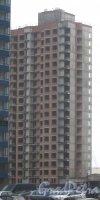 Пр. Кузнецова, дом 14, корпус 4. Вид с пр. Кузнецова на строящееся здание. Фото 29 декабря 2013 г.