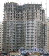 Ленинский пр., дом 74, корпус 1. Вид с пр. Кузнецова на строящееся здание. Фото 29 декабря 2013 г.