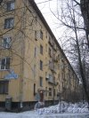 Ленинский пр., дом 127, корпус 2. Фрагмент здания со стороны дома 127, корпус 1. Фото 12 января 2014 г.