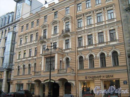 Невский пр., дом 58. Фасад здания со стороны Невского проспекта. Фото ноябрь 2013 г.