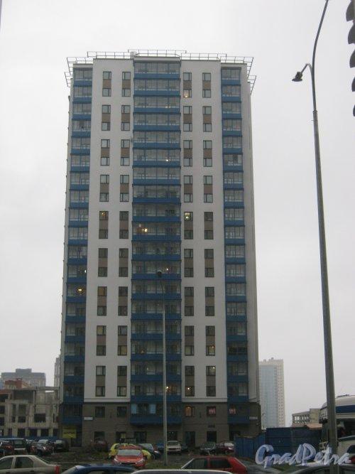 Пр. Кузнецова, дом 11, корпус 2. Общий вид здания. Фото 29 декабря 2013 г.