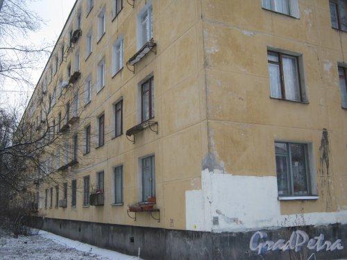 Ленинский пр., дом 125, корпус 2. Фрагмент здания со стороны дома 125, литера А. Фото 12 января 2014 г.