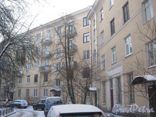 Микрорайон «Форели», Ленинский пр., дом 116. Вид со стороны двора. Фото январь 2014 г.