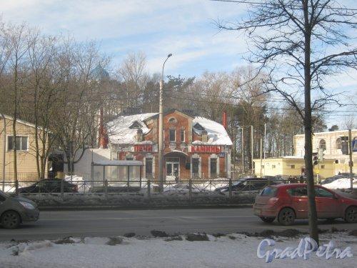 Выборгское шоссе, дом 104. Общий вид фасада здания. Фото 16 марта 2013 г.