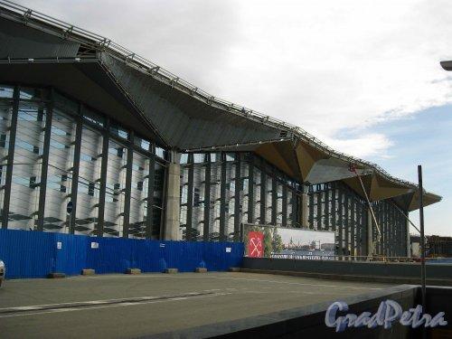 Пулковское шоссе, дом 41. Строительство нового терминала Пулково-1. Фото 16 апреля 2013 г.