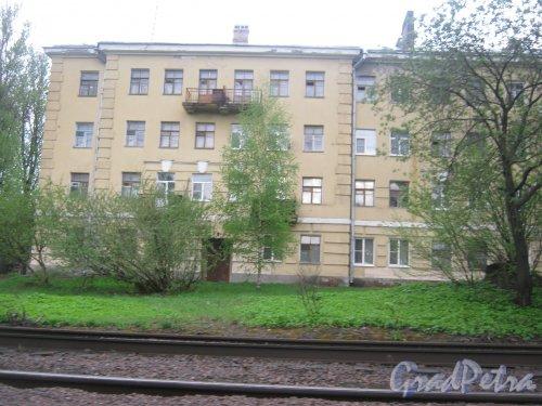Рябовское шоссе, дом 59. Фрагмент фасада. Фото 17 мая 2013 г.
