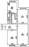 3 комн. квартира продажа(вторичное),Санкт-Петербург, Красногвардейский, Передовиков ул. д.37