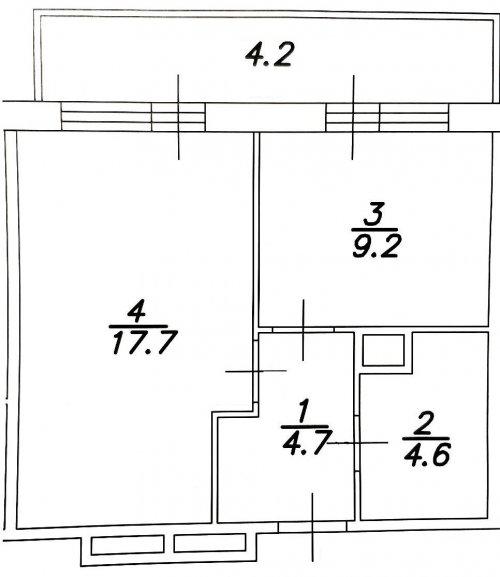 Ленинградская область,Пражская ул. (Кудрово) - 1 комн. квартира продажа (вторичное)